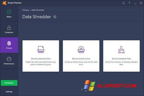 Capture d'écran Avast Premier pour Windows XP
