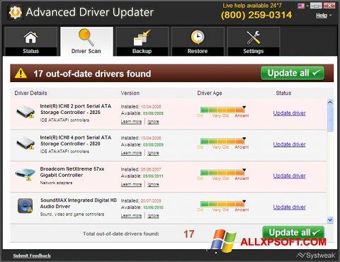 Capture d'écran Advanced Driver Updater pour Windows XP