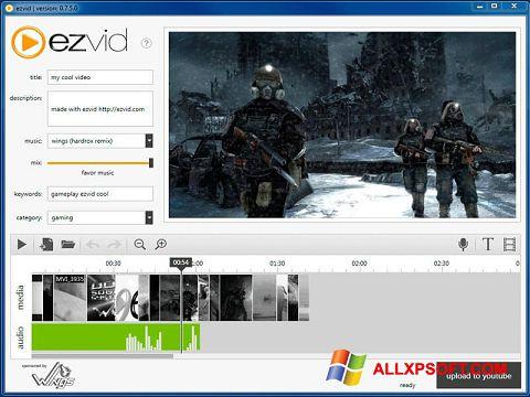Capture d'écran Ezvid pour Windows XP