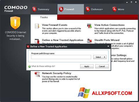 Capture d'écran Comodo Firewall pour Windows XP
