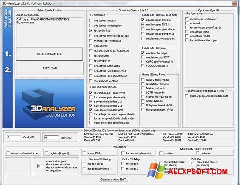 Capture d'écran 3D-Analyze pour Windows XP