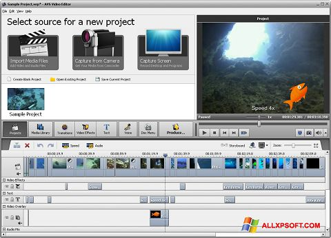Capture d'écran AVS Video Editor pour Windows XP