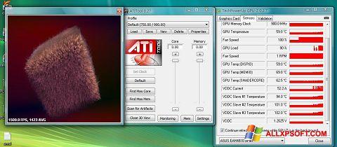 Capture d'écran ATITool pour Windows XP