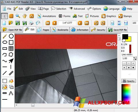 Capture d'écran PDF Reader pour Windows XP