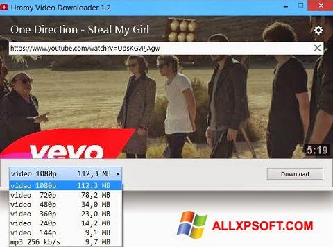 Capture d'écran Ummy Video Downloader pour Windows XP
