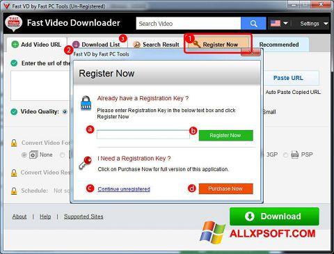 Capture d'écran Fast Video Downloader pour Windows XP