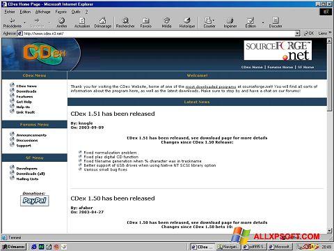 Capture d'écran CDex pour Windows XP