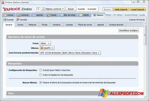 Capture d'écran Zimbra Desktop pour Windows XP