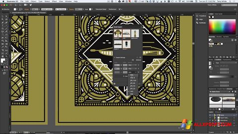 Capture d'écran Adobe Illustrator pour Windows XP