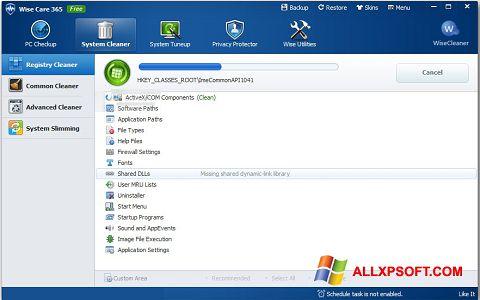 Capture d'écran Wise Care 365 pour Windows XP