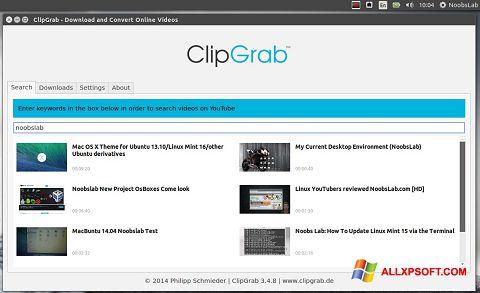 Capture d'écran ClipGrab pour Windows XP