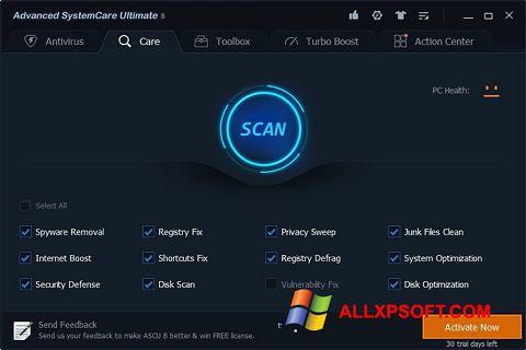 Capture d'écran Advanced SystemCare Ultimate pour Windows XP