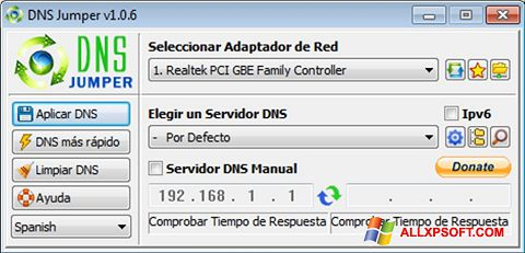 Capture d'écran DNS Jumper pour Windows XP