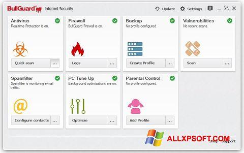 Capture d'écran BullGuard pour Windows XP