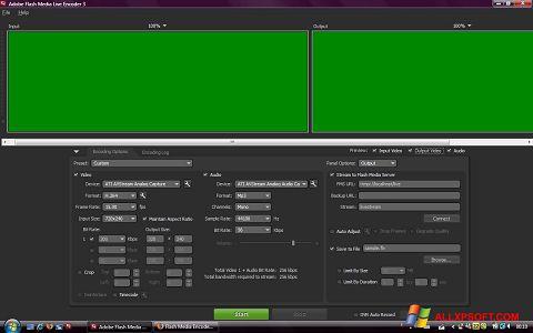 Capture d'écran Adobe Media Encoder pour Windows XP