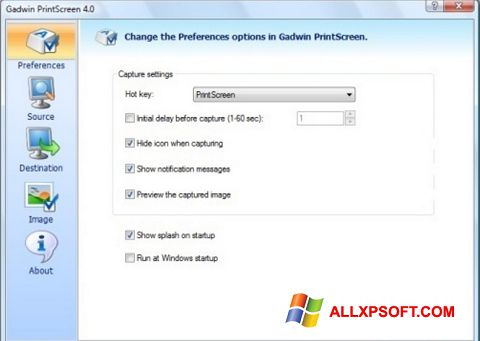Capture d'écran Gadwin PrintScreen pour Windows XP