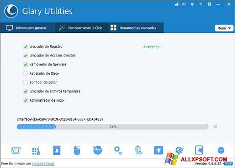Capture d'écran Glary Utilities pour Windows XP