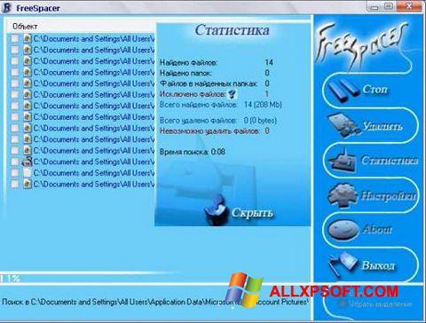 Capture d'écran FreeSpacer pour Windows XP
