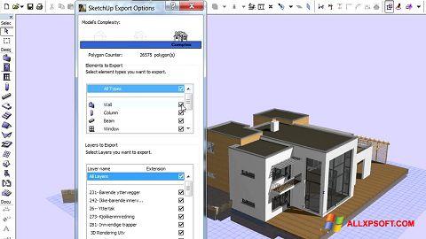 Capture d'écran ArchiCAD pour Windows XP
