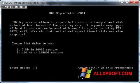 Capture d'écran HDD Regenerator pour Windows XP