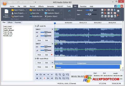 Capture d'écran AVS Audio Editor pour Windows XP