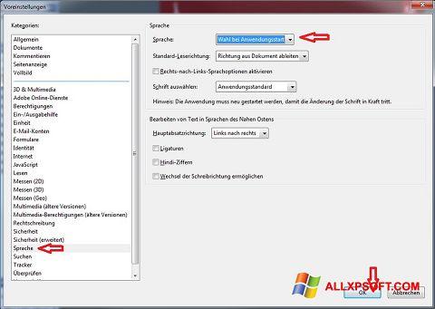 Capture d'écran Adobe Reader pour Windows XP
