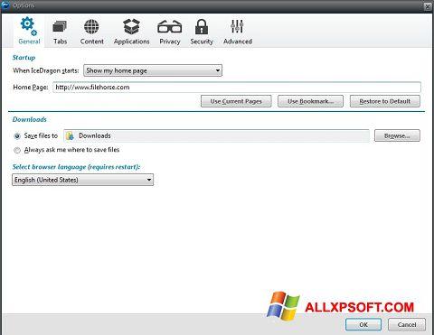 Capture d'écran Comodo IceDragon pour Windows XP