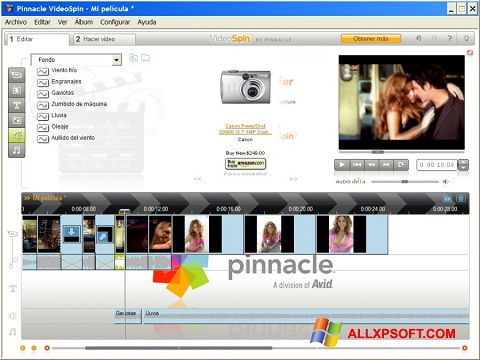 Capture d'écran Pinnacle VideoSpin pour Windows XP