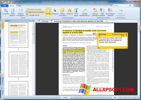 Capture d'écran Nitro PDF Reader pour Windows XP