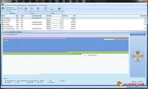 Capture d'écran PerfectDisk pour Windows XP