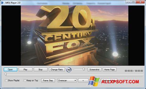 Capture d'écran MKV Player pour Windows XP