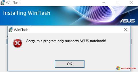 Capture d'écran WinFlash pour Windows XP