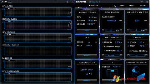 Capture d'écran GIGABYTE OC Guru pour Windows XP