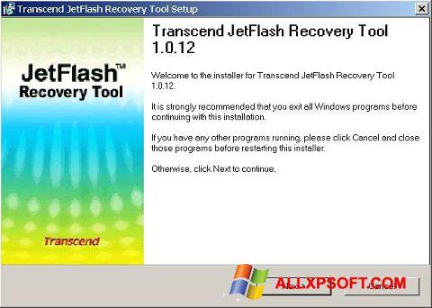 Capture d'écran JetFlash Recovery Tool pour Windows XP