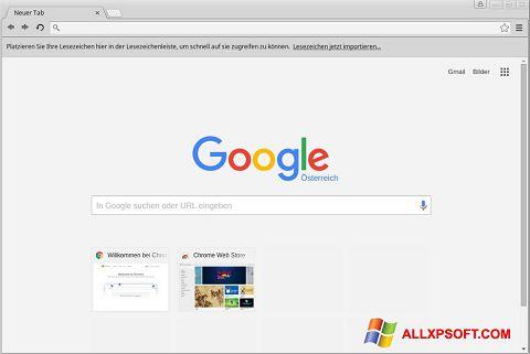 Capture d'écran Google Chrome pour Windows XP