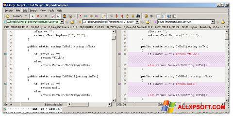 Capture d'écran Beyond Compare pour Windows XP