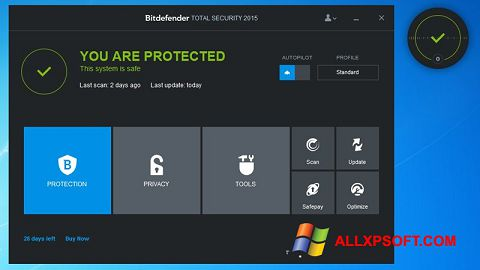Capture d'écran Bitdefender pour Windows XP