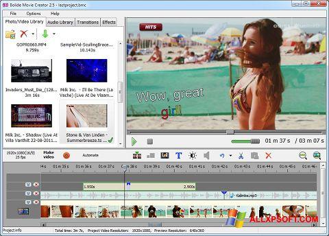 Capture d'écran Bolide Movie Creator pour Windows XP