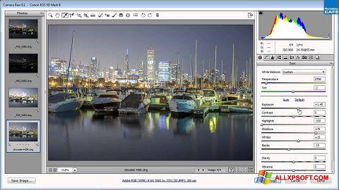 Capture d'écran Adobe Camera Raw pour Windows XP