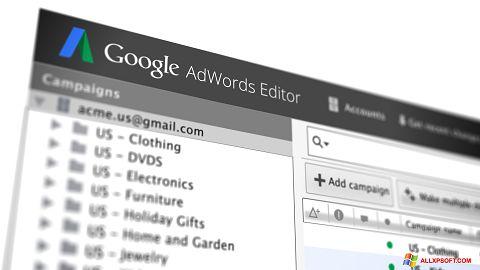 Capture d'écran AdWords Editor pour Windows XP