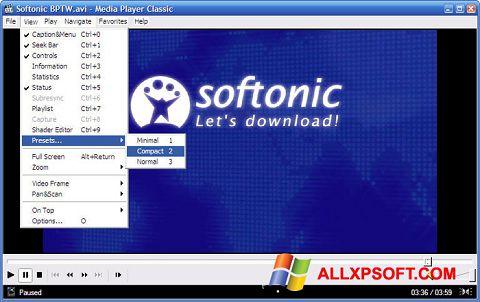 Capture d'écran Media Player Classic pour Windows XP