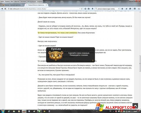 Capture d'écran EyeLeo pour Windows XP