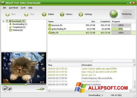 Capture d'écran Free Video Catcher pour Windows XP