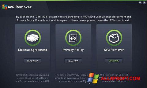 Capture d'écran AVG Remover pour Windows XP