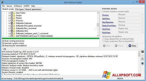 Capture d'écran AVZ pour Windows XP