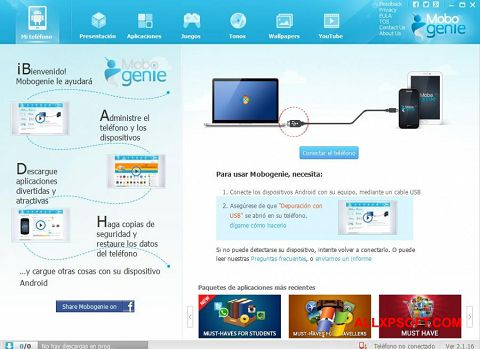Capture d'écran Mobogenie pour Windows XP