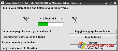 Capture d'écran Funny Voice pour Windows XP