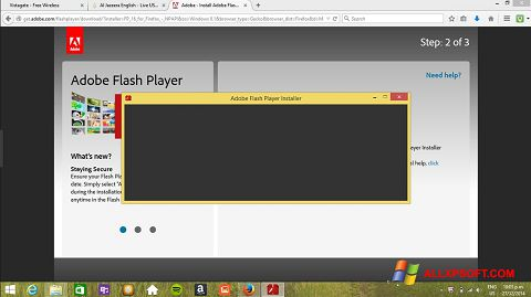 Capture d'écran Adobe Flash Player pour Windows XP