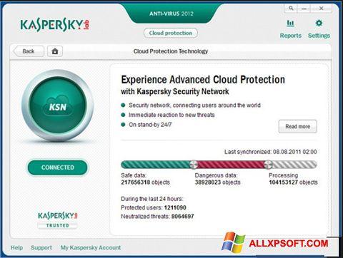 Capture d'écran Kaspersky pour Windows XP