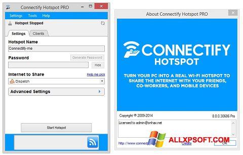 Capture d'écran Connectify Hotspot PRO pour Windows XP